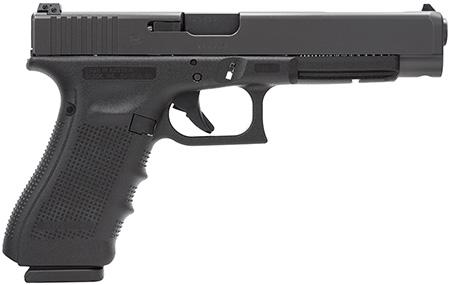 "Glock PG3430101 G34 Gen 4 Double 9mm Luger 5.31"" 10+1 Black Interchangeable Backstrap Grip Black"