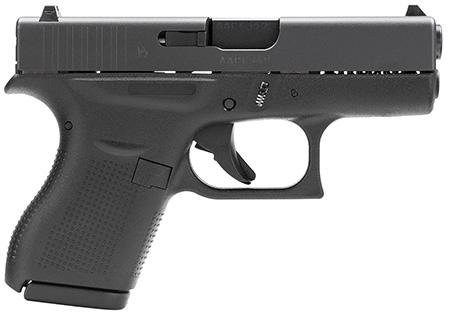 "Glock UI4250201 G42 Subcompact Double 380 Automatic Colt Pistol (ACP) 3.25"" 6+1 Black Polymer Grip/Frame Grip Black"