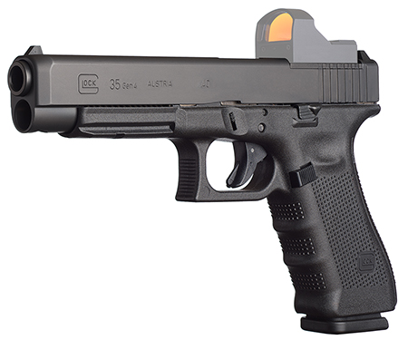 "Glock PG3530101MOS G35 Gen 4 MOS Double 40 Smith & Wesson (S&W) 5.31"" 10+1 Black Interchangeable Backstrap Grip Black"