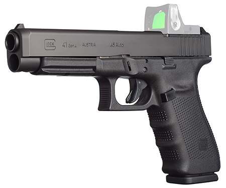 """Glock PG4130101MOS G41 Gen 4 MOS 45 ACP Double 45 Automatic Colt Pistol (ACP) 5.31"""" 10+1 Black Interchangeable Backstrap Grip Bl"""