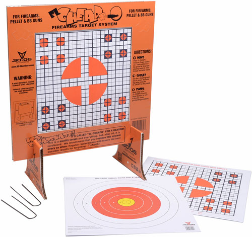 b72eee2804c 30-06 OUTDOORS PAPER TARGET EL CHEAPO SIGHT-IN W STAND 40CT