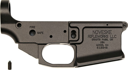 NOVESKE GEN3 BILLET STRIPPED LOWER RECEIVER AR-15 BLACK
