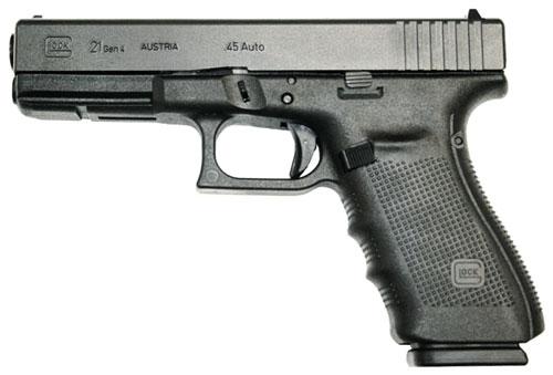 GLOCK 21 .45ACP GEN-4 FIXED SIGHT 13-SHOT BLACK