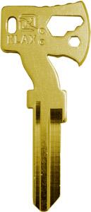 """KLECKER KNIVES & TOOLS KLAX KEY W/ 1/4"""" HEX BIT DRVR BRASS"""
