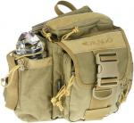 DRAGO HIKERS SHOULDER PACK TAN 5 STORAGE AREAS TO CARRY GEAR!